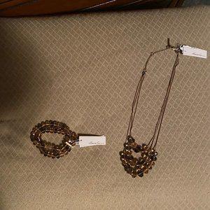 Kenneth Cole Beaded Bracelet & Necklace Set